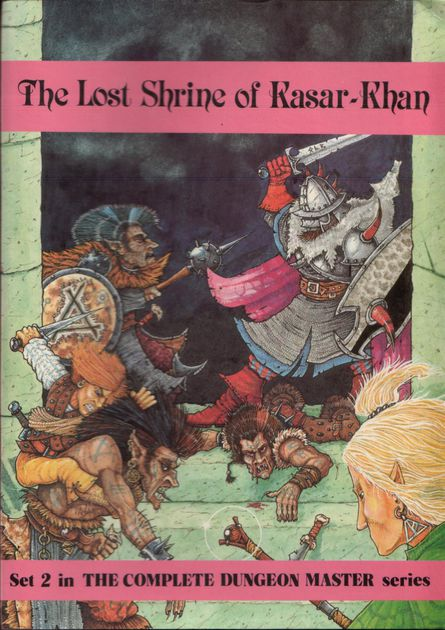 Jes Goodwin, cover art, from The Lost Shrine of Kasar-Khan, 1985